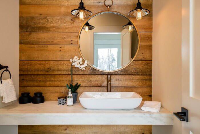 Doğanın Güzelliğinden Esinlenen Rustik Banyo Fikirleri 17