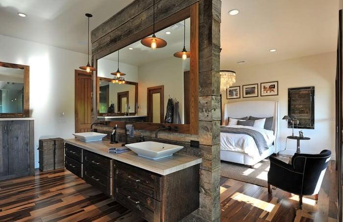 Doğanın Güzelliğinden Esinlenen Rustik Banyo Fikirleri 8