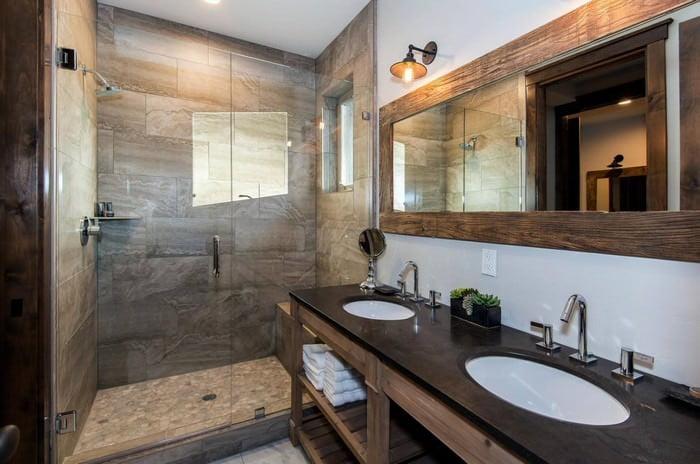 doğanın güzelliğinden esinlenen rustik banyo fikirleri - Rustik banyo dekorasyon fikirleri 12