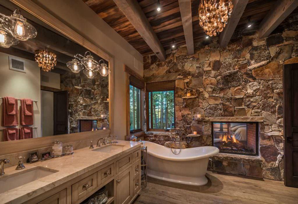 doğanın güzelliğinden esinlenen rustik banyo fikirleri - Rustik banyo dekorasyon fikirleri 13 1024x703