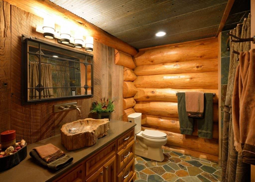 doğanın güzelliğinden esinlenen rustik banyo fikirleri - Rustik banyo dekorasyon fikirleri 14 1024x730