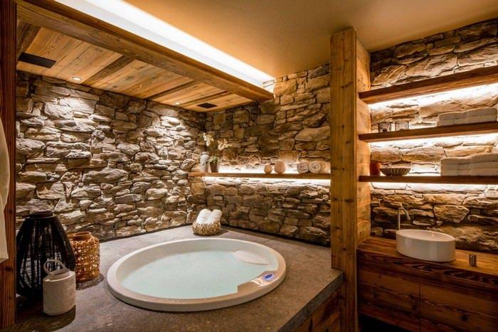 doğanın güzelliğinden esinlenen rustik banyo fikirleri - Rustik banyo dekorasyon fikirleri 15