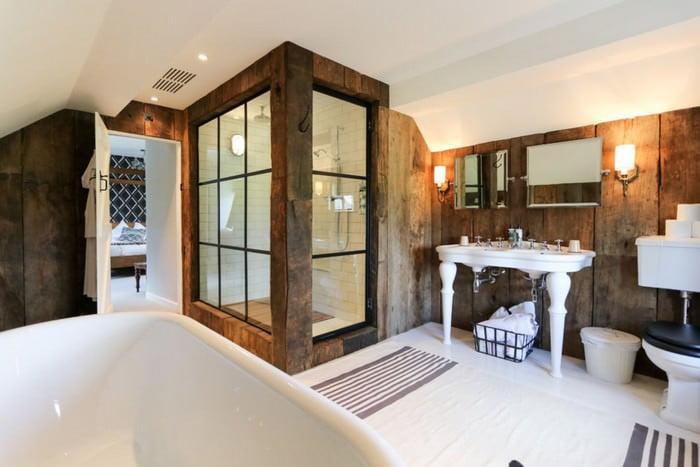 doğanın güzelliğinden esinlenen rustik banyo fikirleri - Rustik banyo dekorasyon fikirleri 16