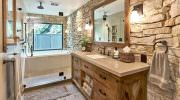 Doğanın Güzelliğinden Esinlenen Rustik Banyo Fikirleri