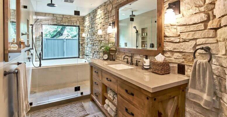 doğanın güzelliğinden esinlenen rustik banyo fikirleri - Rustik banyo dekorasyon fikirleri 3 777x400