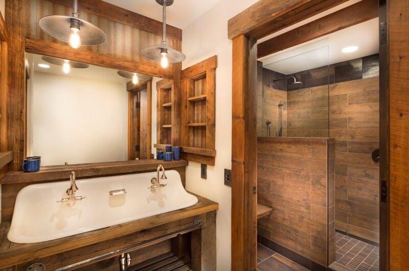 doğanın güzelliğinden esinlenen rustik banyo fikirleri - Rustik banyo dekorasyon fikirleri 5