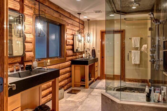 Doğanın Güzelliğinden Esinlenen Rustik Banyo Fikirleri 19