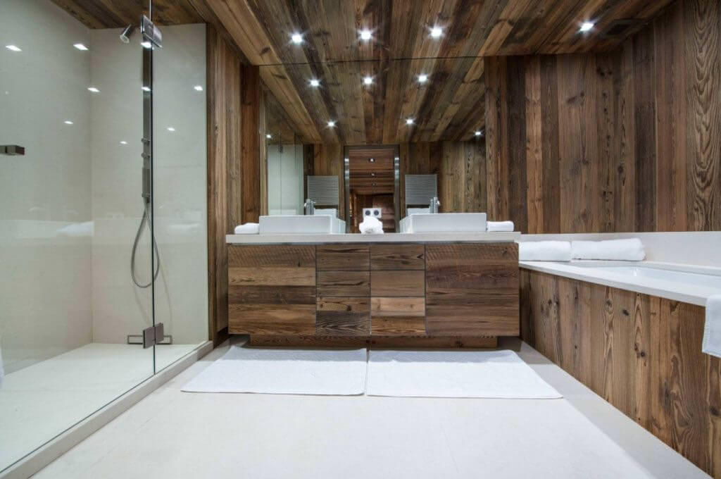 Doğanın Güzelliğinden Esinlenen Rustik Banyo Fikirleri 15