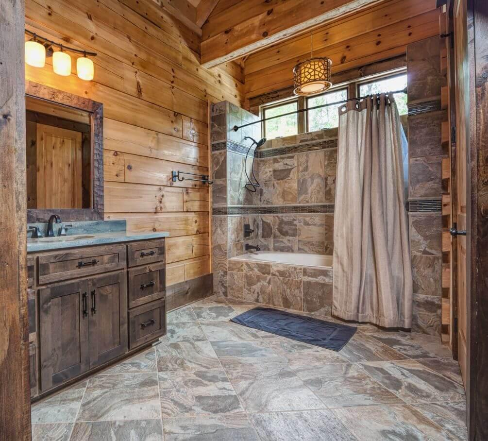 doğanın güzelliğinden esinlenen rustik banyo fikirleri - Rustik banyo dekorasyon fikirleri