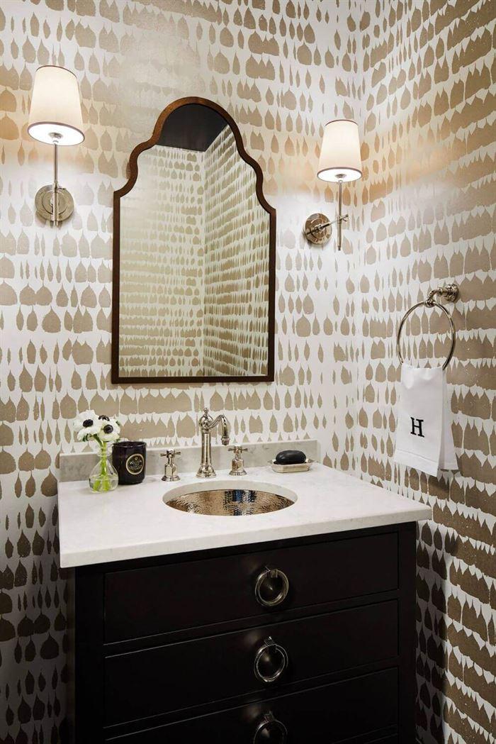 Dekoratif Dikkat Çekici Banyo Ayna Modelleri 2