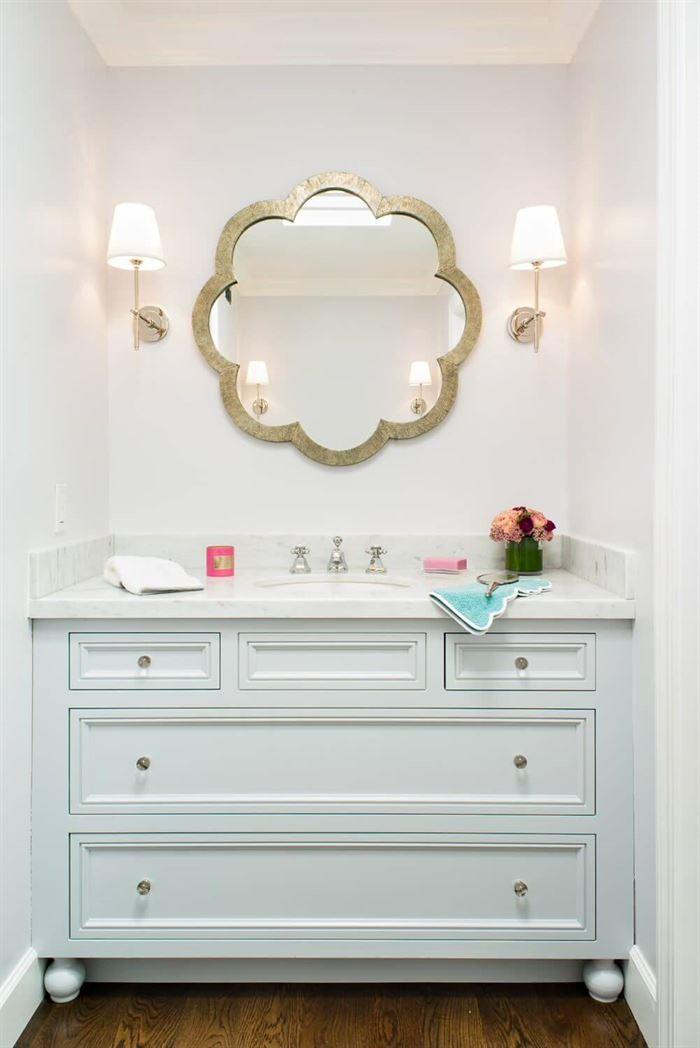Dekoratif Dikkat Çekici Banyo Ayna Modelleri 4