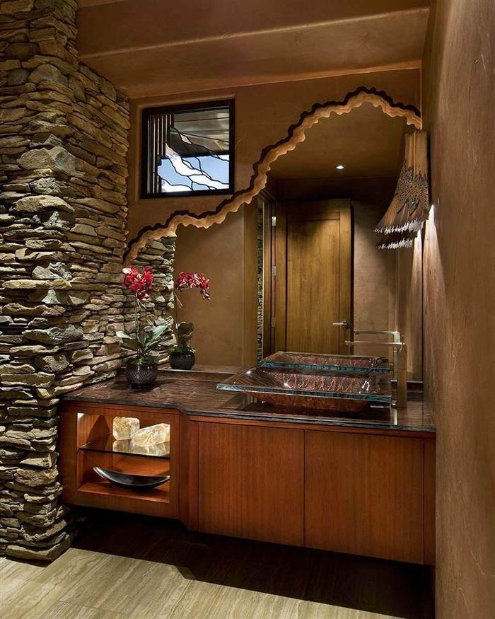 Dekoratif Dikkat Çekici Banyo Ayna Modelleri 5