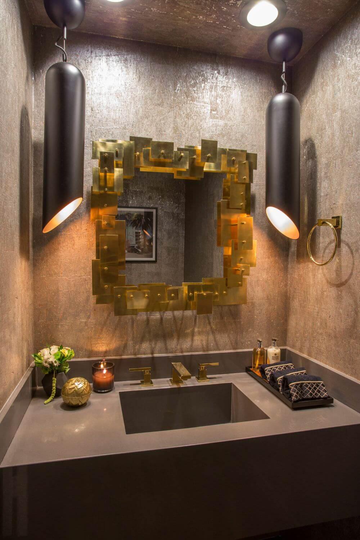 Dekoratif Dikkat Çekici Banyo Ayna Modelleri 7
