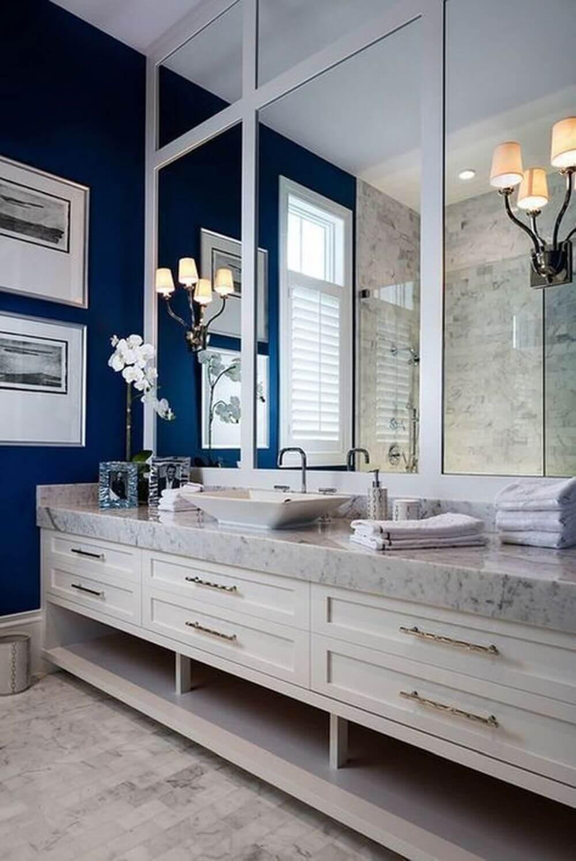 Dekoratif Dikkat Çekici Banyo Ayna Modelleri 6