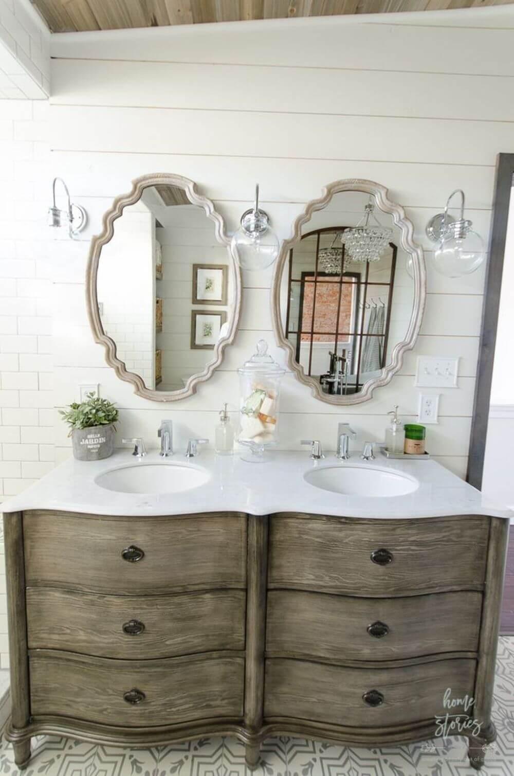 Dekoratif Dikkat Çekici Banyo Ayna Modelleri 8