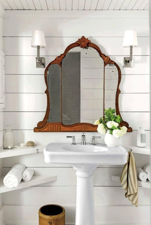 Dekoratif Dikkat Çekici Banyo Ayna Modelleri 9