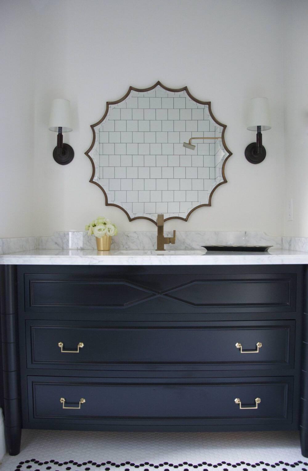Dekoratif Dikkat Çekici Banyo Ayna Modelleri 10