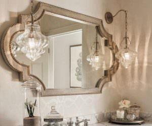 Dekoratif Dikkat Çekici Banyo Ayna Modelleri