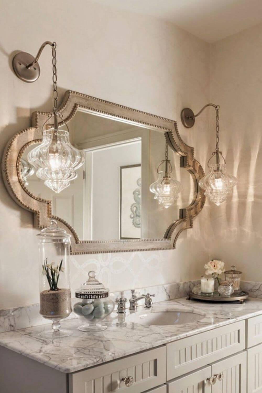 Dekoratif Dikkat Çekici Banyo Ayna Modelleri 25