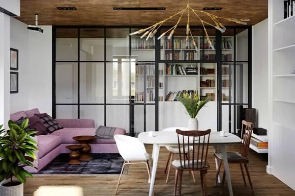 Stüdyo Daire Oturma Ve Yemek Alanları Dekorasyon Fikirleri 11