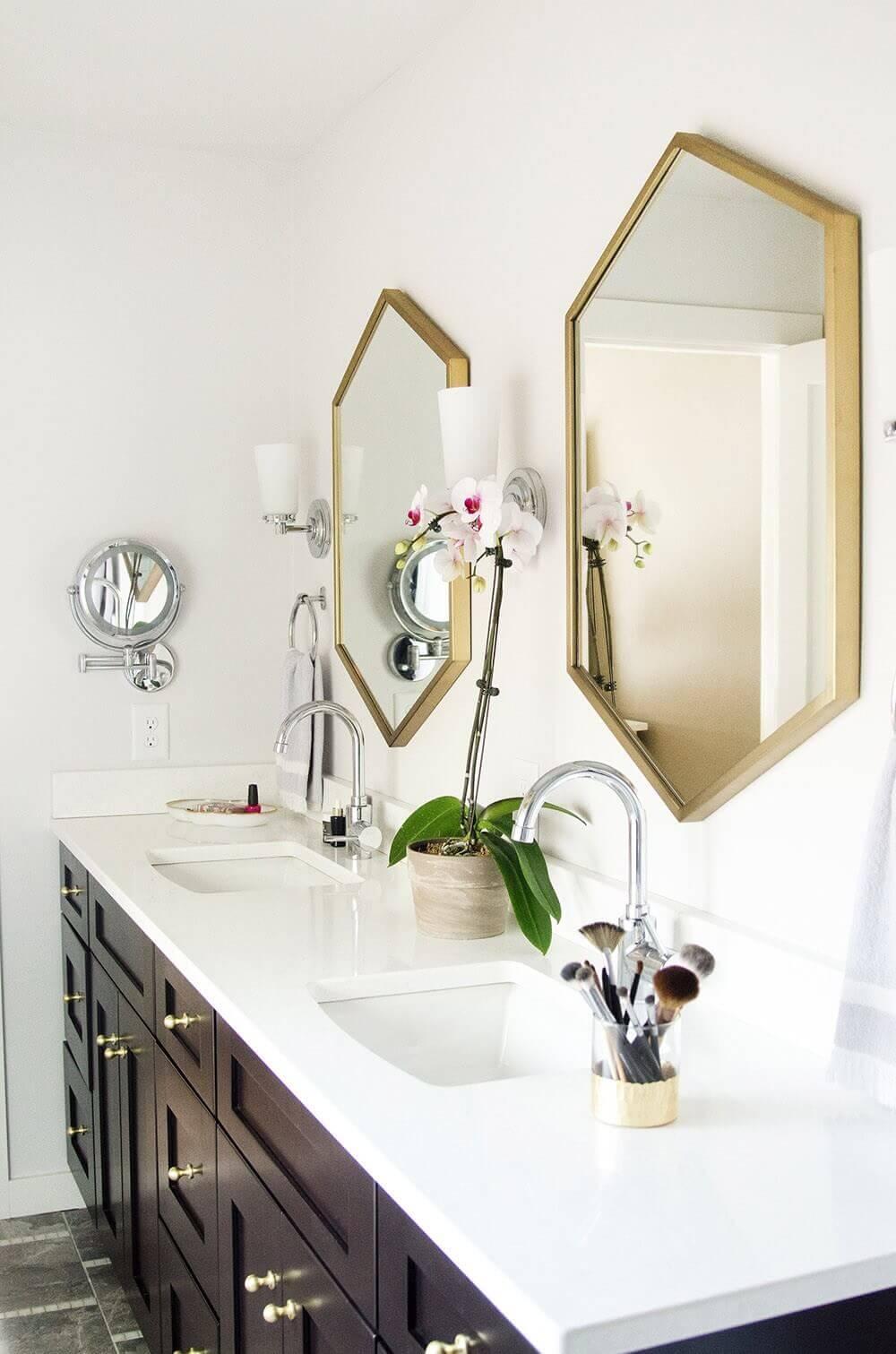 Dekoratif Dikkat Çekici Banyo Ayna Modelleri 13