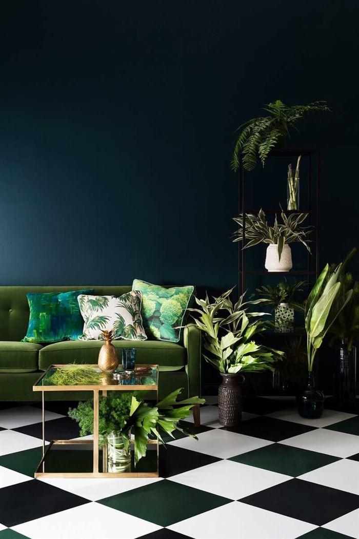 Ev Dekorasyonunda Yeşil Nasıl Durur 16