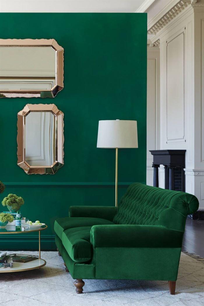 yeşil duvar renk tonları