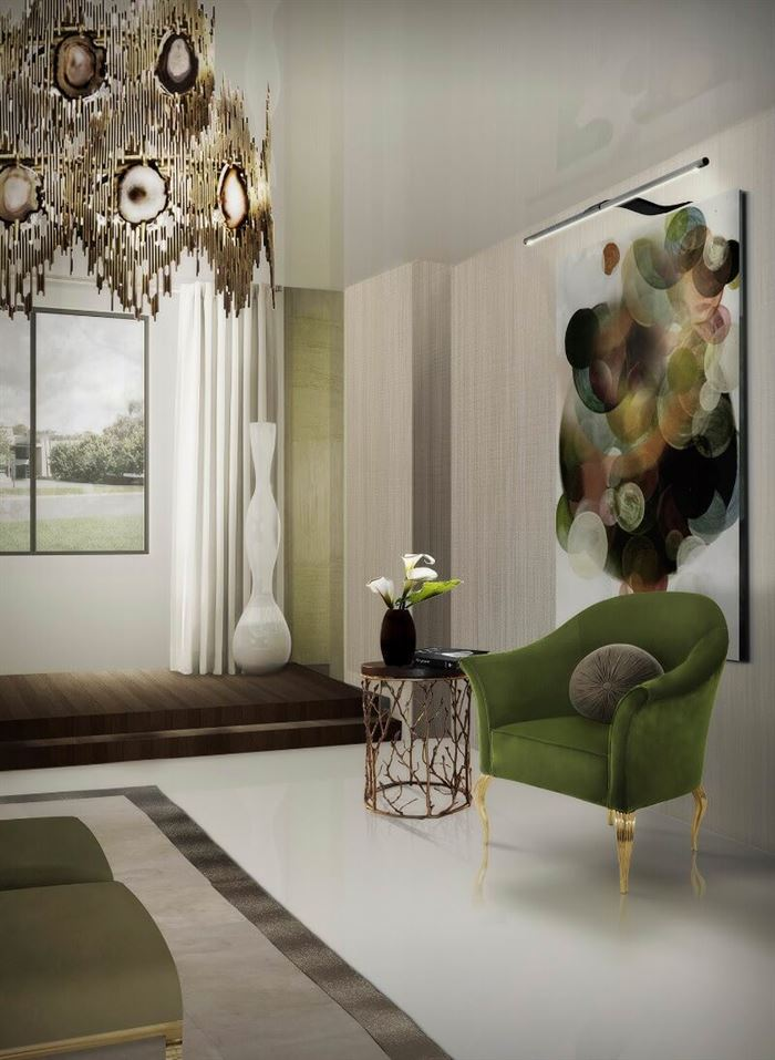 dekoratif yeşil berjer