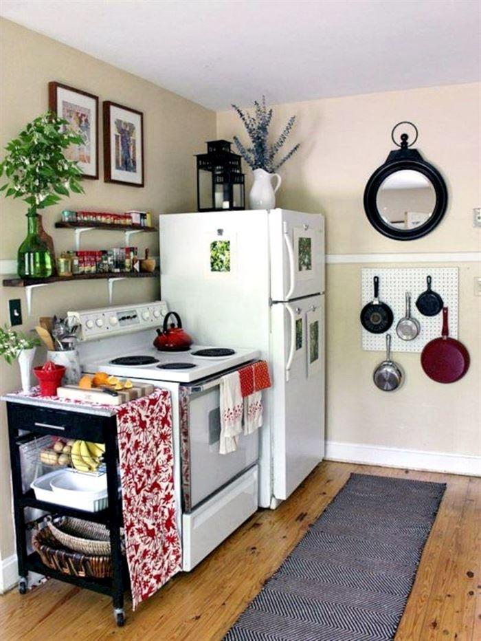 küçük daire mutfak dekorasyon