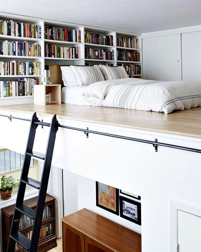 küçük daire yatak odası düzenleme