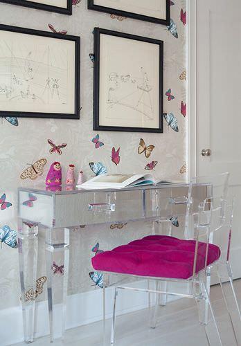 şeffaf mobilya