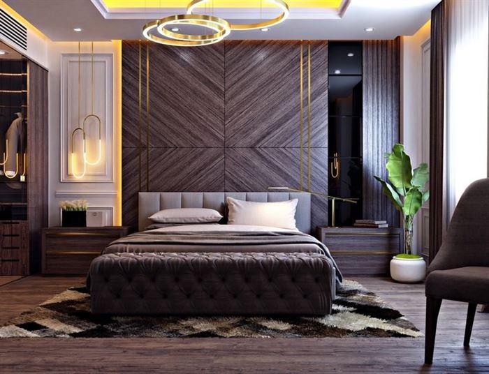 modern lüks tasarımlı yatak odası