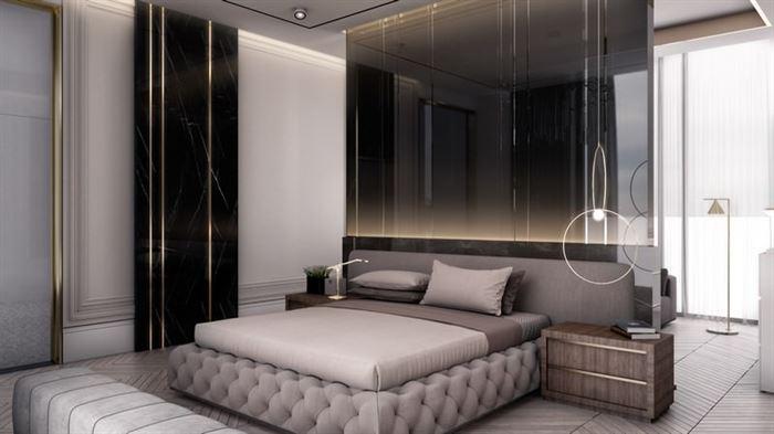 kapitoneli yatak odası dizayn