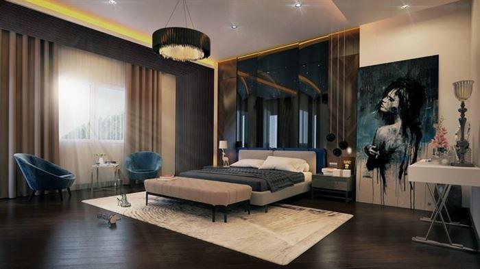 Modern Yeni Tasarım Yatak Odası Dekorasyon Fikirleri 3