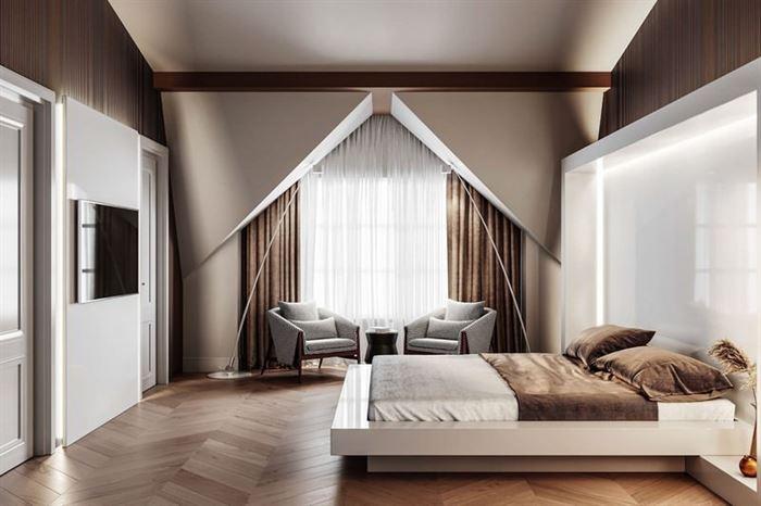modern yatak odası dekorasyon