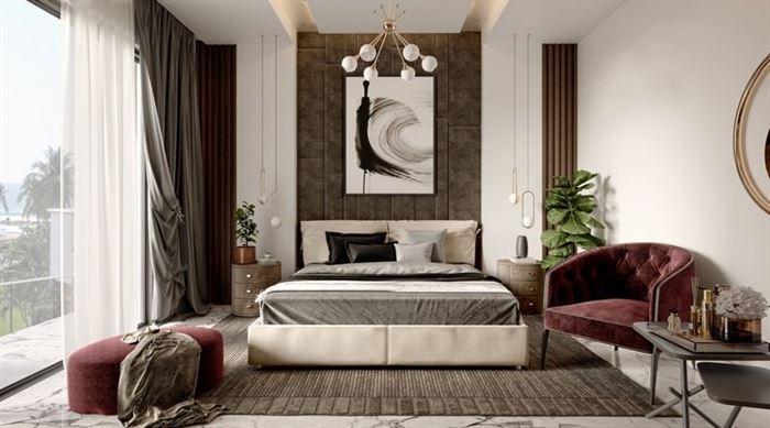 moda yatak odası dekorasyonları