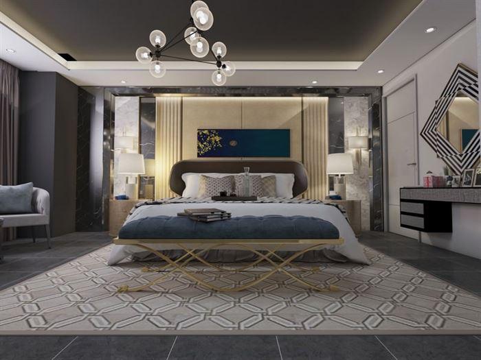 Modern Yeni Tasarım Yatak Odası Dekorasyon Fikirleri 8