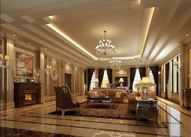 büyüleyici klasik salon tavan tasarımları - klasik tavan dekorasyonlari 10 - Büyüleyici Klasik Salon Tavan Tasarımları