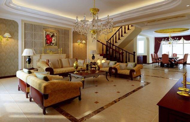 büyüleyici klasik salon tavan tasarımları - klasik tavan dekorasyonlari 12 - Büyüleyici Klasik Salon Tavan Tasarımları