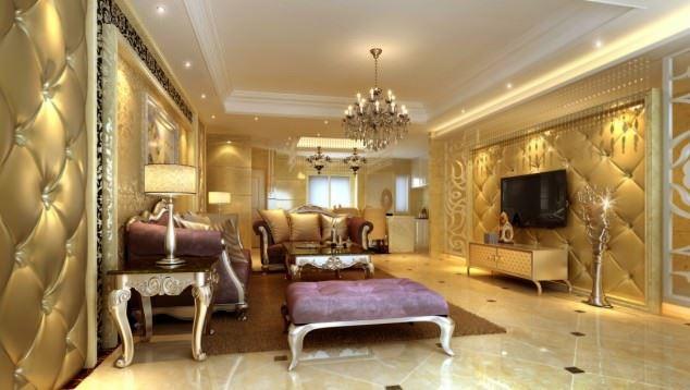 büyüleyici klasik salon tavan tasarımları - klasik tavan dekorasyonlari 13 - Büyüleyici Klasik Salon Tavan Tasarımları