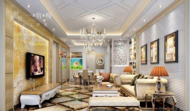 büyüleyici klasik salon tavan tasarımları - klasik tavan dekorasyonlari 14 - Büyüleyici Klasik Salon Tavan Tasarımları