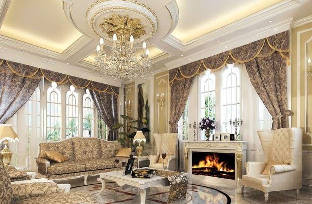 büyüleyici klasik salon tavan tasarımları - klasik tavan dekorasyonlari 2 - Büyüleyici Klasik Salon Tavan Tasarımları