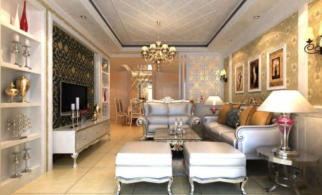 büyüleyici klasik salon tavan tasarımları - klasik tavan dekorasyonlari 4 - Büyüleyici Klasik Salon Tavan Tasarımları