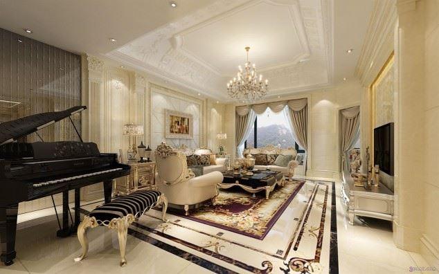 büyüleyici klasik salon tavan tasarımları - klasik tavan dekorasyonlari 5 - Büyüleyici Klasik Salon Tavan Tasarımları