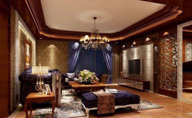 büyüleyici klasik salon tavan tasarımları - klasik tavan dekorasyonlari 6 - Büyüleyici Klasik Salon Tavan Tasarımları