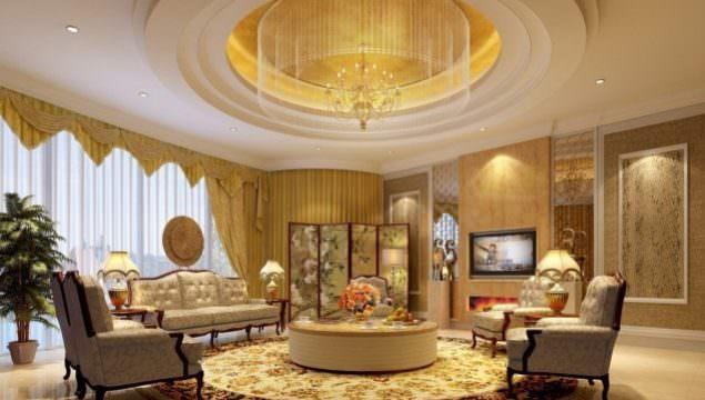 Büyüleyici Klasik Salon Tavan Tasarımları