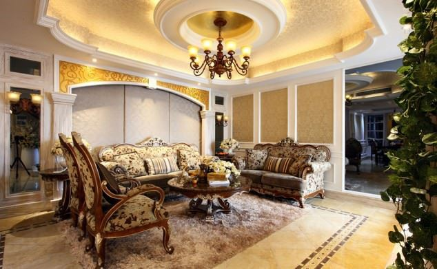 büyüleyici klasik salon tavan tasarımları - klasik tavan dekorasyonlari 9 - Büyüleyici Klasik Salon Tavan Tasarımları