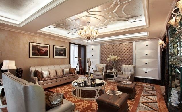 büyüleyici klasik salon tavan tasarımları - klasik tavan dekorasyonlari - Büyüleyici Klasik Salon Tavan Tasarımları