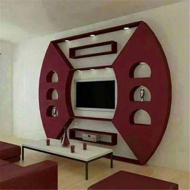 alçıpandan duvar tv ünite yapımı