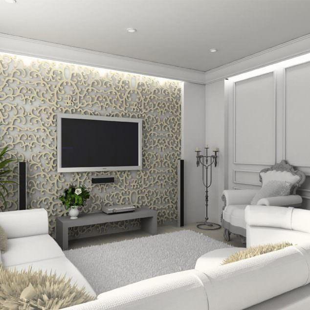 Alçıpan Duvar Ünite Ve Dekorasyon Modelleri 14